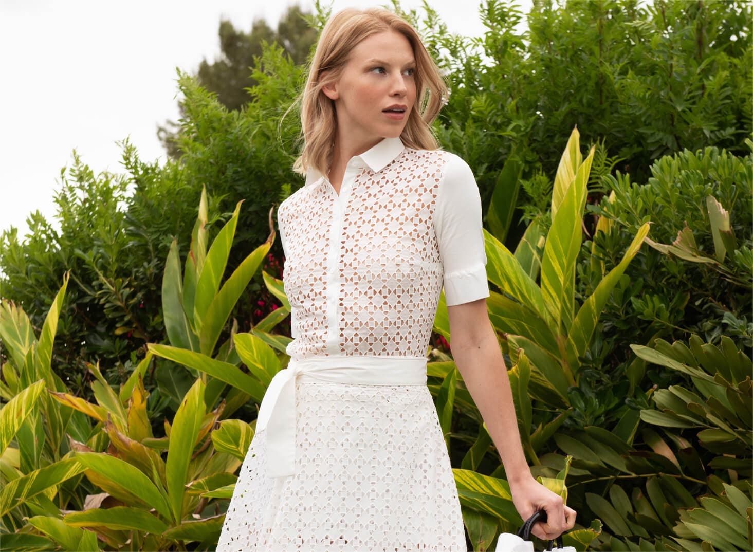 Explore the exquisite detailing of Anne Fontaine's Broderie Anglaise Collection